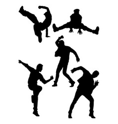 dancer pose activity silhouette vector image