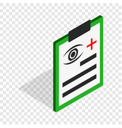 Diagnosis eye exam isometric icon vector