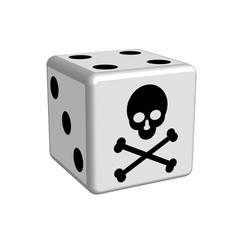 dice game danger in 3d vector image