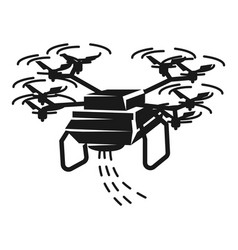 drone sower icon simple style vector image
