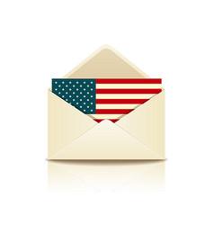 Envelope letter flag america vector