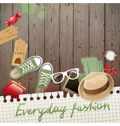 everyday fashion background vector image