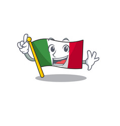 finger flag italy is placed cartoon cupboard vector image