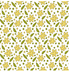 floral elements pattern vector image