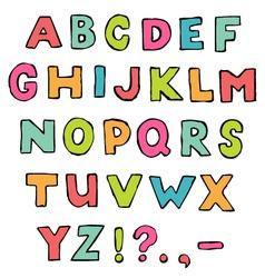 font a to z alphabet vector image