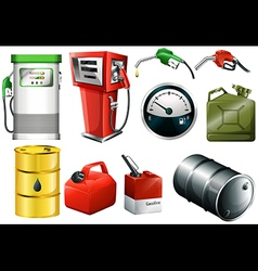 Gas station elements vector