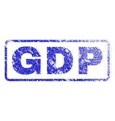 gdp rubber stamp vector image