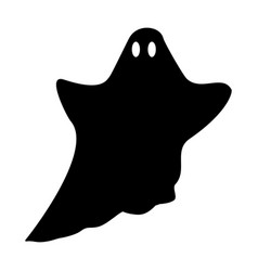 ghost silhouette halloween mystery specter vector image