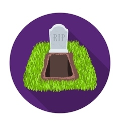 Grave icon in flat style isolated on white vector image