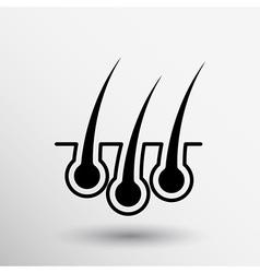 Hair icon isolated human removal grow medical bulb vector