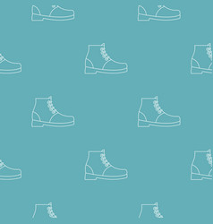 hiking boots pattern seamless vector image