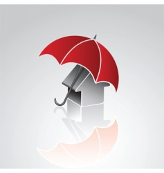 house under umbrella vector image