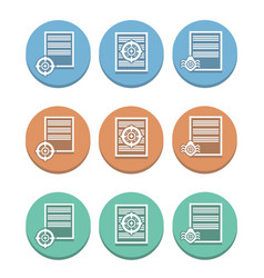 Icons for detecting viruses in documents vector