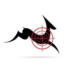 Image of a deer target vector