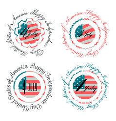 Independence day usa banners vector
