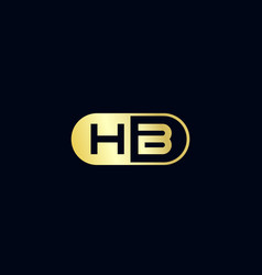 Initial letter hb logo template design vector