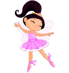 Little fairy ballerina vector image