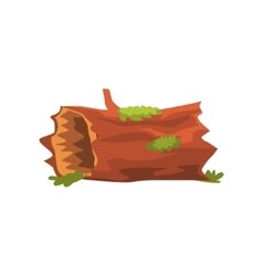Moldering Swamp Log Isolated Element Of Forest vector image