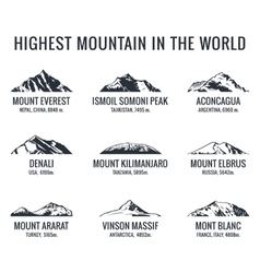 Mountain tourist logos set Posters vector
