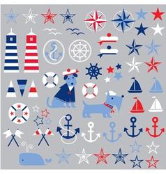 Nautical clipart vector