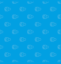 no sound mute pattern seamless blue vector image