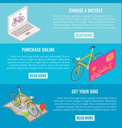 Online bike shopping concept horizontal vector