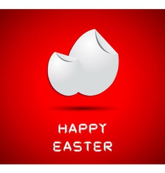 Origami happy easter card with eggs vector
