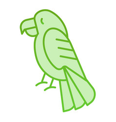 Parrot flat icon animal green icons in trendy vector