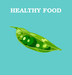 peas flat peas logo peas icon isolated object vector image