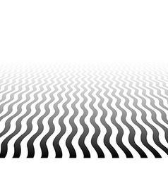 Perspective textured wavy surface vector