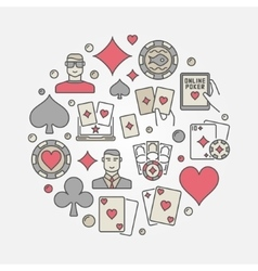 Poker colorful circular vector image