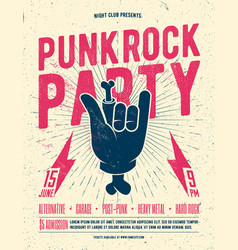 Punk rock party flyer poster vector