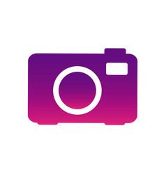 purple camera photo icon vector image