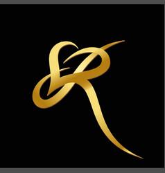 r letter logo vector image