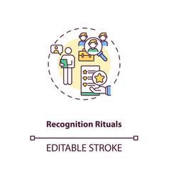 Recognition rituals concept icon vector
