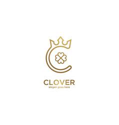royal clover logo vector image