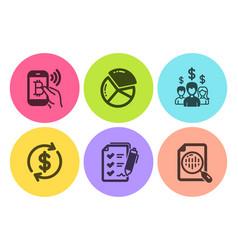 Salary employees bitcoin pay and survey checklist vector