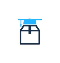 school box logo icon design vector image