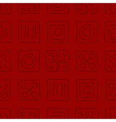 Scratched symbols on red vector