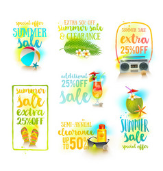 set season sale summer holidays designs vector image