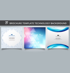 set template technology covers design vector image