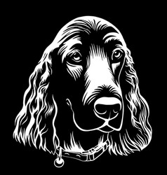spaniel dog hand drawn outline stock vector image