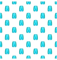Sports shorts pattern cartoon style vector