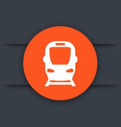 Subway icon train sign vector