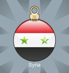 Syria flag on bulb vector image