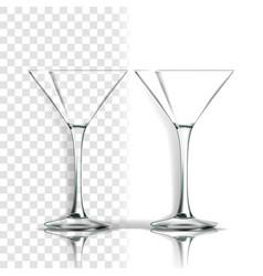Transparent glass classic goblet empty vector