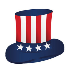 Usa top hat icon vector