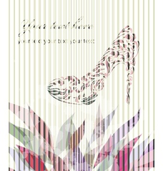 Vintage card with shoes vector image