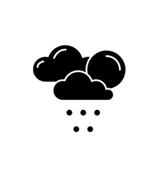 weather forecast black icon sign on vector image