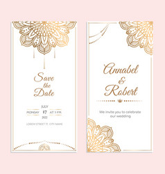 Wedding invitation stories cover template vector